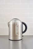 Silver Electric Kettle Stock Photo