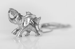 Silver elephant. Royalty Free Stock Image