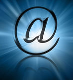 Silver email symbol Royalty Free Stock Images