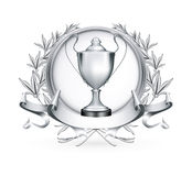 Silver Emblem. Computer illustration, isolated Stock Images