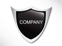 Silver emblem template. For logo design or identity design Royalty Free Stock Photos