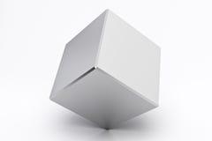Silver empty cube Stock Image