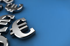Silver Euro Royalty Free Stock Images