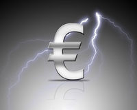 Silver euro sign Royalty Free Stock Image