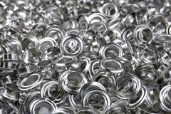 Silver eyelet. Eyelet design metal rivet silver stock images
