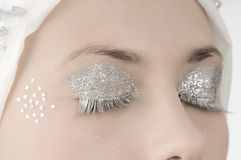 Silver eyes Royalty Free Stock Photography