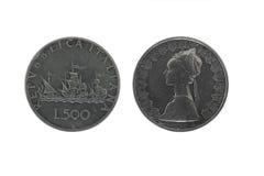 silver för 2 caravelsmynt Royaltyfria Bilder
