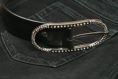 silver för lady s för bältebuckla Royaltyfri Fotografi