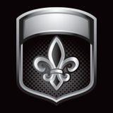 silver för lis för de-skärmfleur Royaltyfri Fotografi