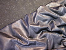 Silver fabric Royalty Free Stock Photography