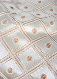 Silver fabric texture Royalty Free Stock Images