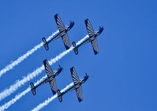 Silver Falcons 4 ship formation Royalty Free Stock Photos