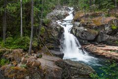 Silver Falls royalty free stock photos