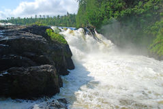 Silver Falls in the Quetico Royalty Free Stock Photo