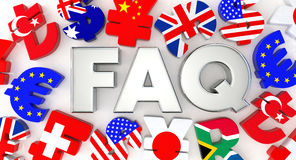 Silver FAQ and currency symbol Royalty Free Stock Photo
