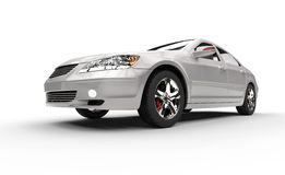 Silver Fast Car Stock Image