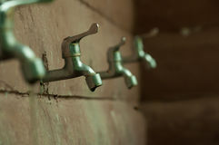 silver faucet Stock Images