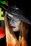 Silver female mannequin Royalty Free Stock Photography