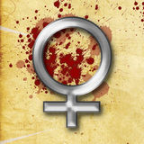 Silver Female woman sign splatter stock photography
