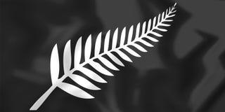 Silver Fern Flag, Nya Zeeland Royaltyfria Foton