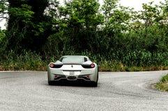 SILVER Ferrari 458 Italia Stock Photography