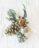 Silver Festive Decoration for Christmas Tree Stock Photo