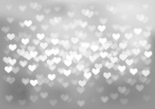 Silver festive lights in heart shape, vector Royalty Free Stock Photo