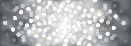 Silver festive lights, vector  background. Stock Photos