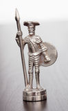 Silver figure of Don Quixote Royalty Free Stock Image