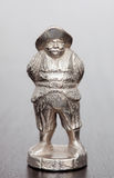 Silver figure of Sancho Panza Stock Photography