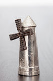 Silver figure of a windmill Royalty Free Stock Photography