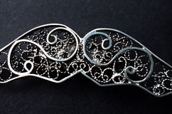 Silver  filigree brooch Royalty Free Stock Photo
