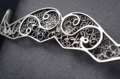 Silver  filigree brooch Stock Images