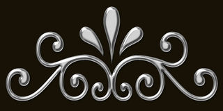 Silver filigree design royalty free stock image