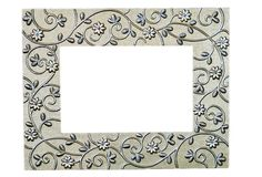Silver Filigree Picture Frame stock photos