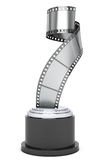 Silver Film Strip Award. 3d Rendering Royalty Free Stock Photos