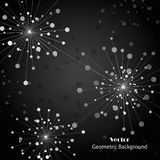 Silver fireworks on dark background. Silver abstract fireworks on dark background. Vector illustration Stock Photo