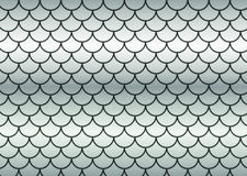 Silver fish scales. Royalty Free Stock Image