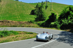 Silver Flag 2012 - Porsche 550 RS 1955. Vernasca Silver Flag June 2012 - Historic hill-climb for competition cars - Castell'Arquato, Italy Stock Images