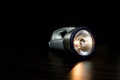 A Silver Flashlight isolated Stock Photo