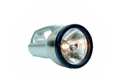 A Silver Flashlight isolated Royalty Free Stock Photography