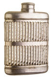 Silver Flask over white Royalty Free Stock Photos