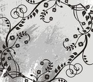 Silver floral background Stock Images