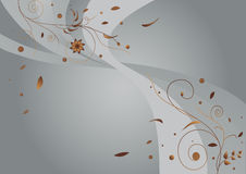 Silver floral background Stock Image