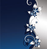 Silver floral background Royalty Free Stock Images