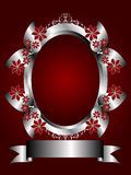 A Silver Floral Background on a Deep Red Backgroun. A silver floral menu template design with room for text on a rich red background. The additional format is an Stock Images