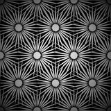 Silver floral explosion background Royalty Free Stock Images