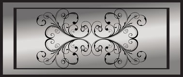 Silver floral frame Royalty Free Stock Photos