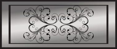 Silver floral frame Royalty Free Stock Photos