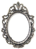 Silver floral frame Royalty Free Stock Images